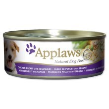 Konzerva Applaws Dog Chicken, Veg & Rice 156g