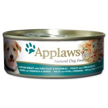 Konzerva Applaws Dog Chicken, Tuna & Rice 156g