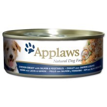 Konzerva Applaws Dog Chicken, Salmon & Rice 156g