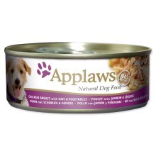 Konzerva Applaws Dog Chicken, Ham & Veg 156g