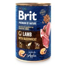 Konzerva Brit Premium by Nature Lamb & Buckwheat 400 g