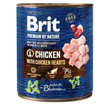 Konzerva Brit Premium by Nature Chicken & Hearts 800 g