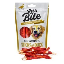 Pamlsky Brit Let's Bite Chewbones Sticks with Duck 80 g