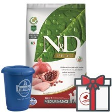 N&D Prime Dog Adult M/L Chicken & Pomegranate 12 kg