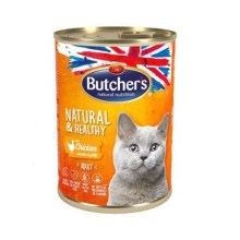 Butcher's Cat Natural & Healthy kousky kuřete v želé 400 g