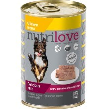 Nutrilove Dog paté konzerva Chicken 400 g