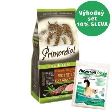 Primordial Cat Adult Duck & Turkey 2 kg + Frontline Combo Cat 0,5 ml