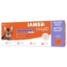 Iams Cat Adult Delights kapsičky Land & Sea 48x 85 g