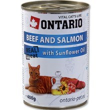 Ontario konzerva Beef, Salmon, Sunflower Oil 400 g