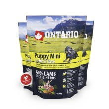 Ontario Puppy Mini Lamb & Rice 0,75 kg