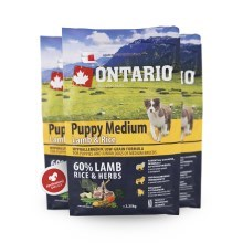 Ontario Puppy medium Lamb & Rice 2,25 kg