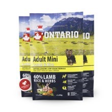 Ontario Adult mini Lamb & Rice 2,25 kg