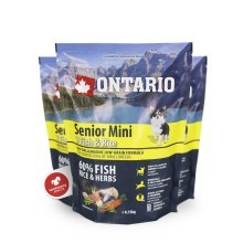 Ontario Senior mini Fish & Rice 0,75 kg
