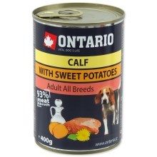 Ontario konzerva mini calf, sweetpotato, dandelion and linseed oil 400 g