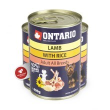 Ontario konzerva Lamb, Rice, Sunflower Oil 400 g