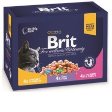 Brit Premium Cat kapsa Family Plate Poultry and Fish 1200 g (12x100 g)