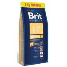 Brit Premium Dog Adult M 15kg + 3kg ZDARMA