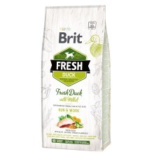 Brit Fresh Duck & Millet Adult Run & Work 12 kg