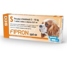 Fipron 67mg Spot-On Dog S sol 1x0,67 ml