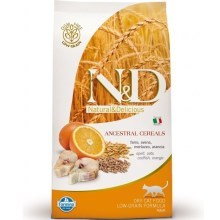 N&D Low Grain Cat Adult Codfish&Orange 10 kg