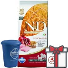 N&D Ancestral Grain Dog Light M/L Chicken & Pomegranate 12 kg