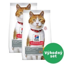 Výhodný set 2 x Hill's Feline Young Adult Sterilised Cat Chicken 1,5 kg
