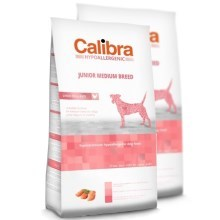 Calibra Dog HA Junior Medium Breed Chicken Duo Pack 2 x 14 kg
