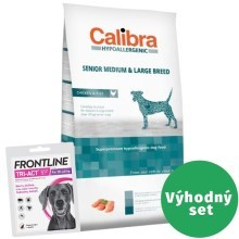 Výhodný set Calibra Dog Senior Medium & Large Chicken 14 kg+Frontline Tri-Act L