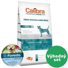 Výhodný set Calibra Dog HA Senior Medium & Large Chicken 14 kg + Foresto 70 cm