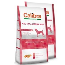 Calibra Dog GF Adult Medium & Small Salmon Duo Pack 2 x 12 kg
