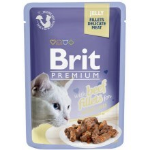 Brit Premium Cat Fillets in Jelly with Beef 85 g