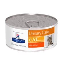 Hill's PD Feline c/d MultiCare Minced Chicken konzerva 156 g
