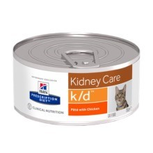Hill's PD Feline k/d Minced Chicken konzerva 156 g