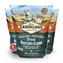 Carnilove Fresh Adult Dog Small Breed Ostrich & Lamb 1,5 kg