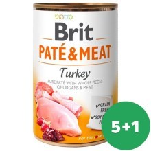Brit konzerva Paté & Meat Turkey 400 g SET 5+1 ZDARMA
