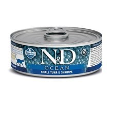N&D Cat Ocean konzerva Adult Small Tuna & Shrimps 80 g