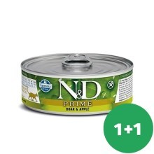 N&D Cat konzerva Adult Boar & Apple 80 g SET 1+1 ZDARMA