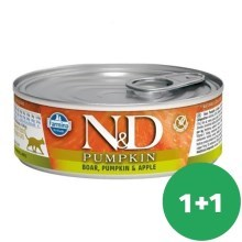 N&D Cat Pumpkin Adult Boar & Apple 80 g SET 1+1 ZDARMA