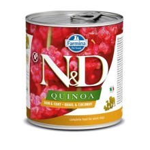 N&D Dog Quinoa konzerva Adult Quail & Coconut 285 g