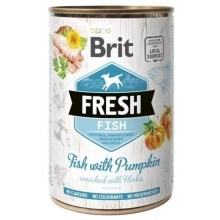 Brit Fresh Dog konzerva Fish with Pumpkin 400 g