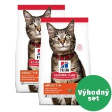 Výhodný set 2 x Hill's Feline Adult Chicken 1,5 kg