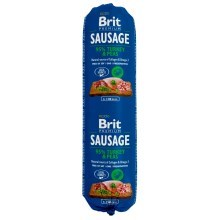 Brit Sausage Turkey & Peas 800 g