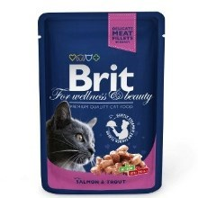 Brit Premium Cat kapsa with Salmon & Trout 100 g