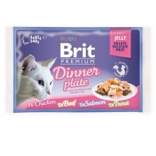 Brit Premium Cat Fillets in Jelly Dinner Plate 4 ks