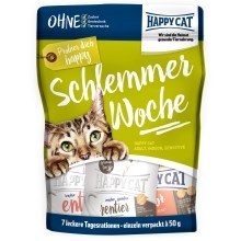 Happy Cat Schlemmerwoche (7 x 50 g MIX příchutí)