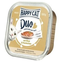 Happy Cat Duo Menu Rind & Kaninchen 100 g