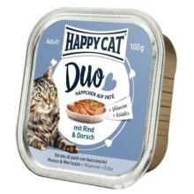Happy Cat Duo Menu Rind & Dorsch 100 g