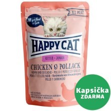Happy Cat All Meat kapsička Junior Huhn & Seelachs 85 g