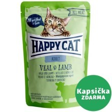 Happy Cat All Meat kapsička Adult Kalb & Lamm 85 g