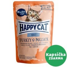 Happy Cat All Meat kapsička Adult Truthahn & Seelachs 85 g